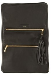 L'Agence Two-Tone Leather Tassel Clutch