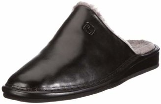 e49660361a0ce Fortuna Mens 438002-02 Warm Lined Slippers Black Size: 5