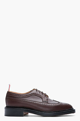 Thom Browne Cocolate waxy leather longwing brogues