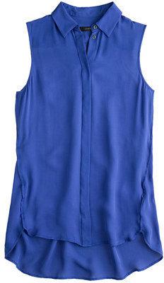 J.Crew Petite silk sleeveless blouse