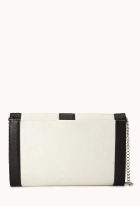 Forever 21 Sleek Faux Leather Clutch