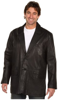 Scully Contemporary Hand Finished Premium Lambskin Blazer Long Sizes (Black) - Apparel