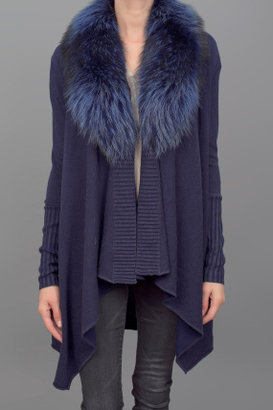 Alice + Olivia Emerson Sweater w/Fur