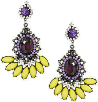 Asos Beaded Jewel Swing Earrings