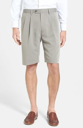Men's Cutter & Buck Double Pleated Microfiber Twill Shorts $68 thestylecure.com