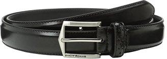Stacy Adams 30mm Pinseal Leather Belt X (Black) Men's Belts