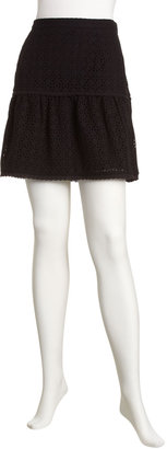 Laundry by Shelli Segal Tiered Eyelet Skirt