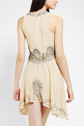 Urban Outfitters Pins And Needles Embellished Chiffon Skater Dress