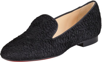 Christian Louboutin Sakouette Curly Calf Hair Red Sole Loafer
