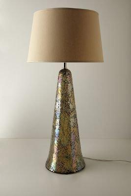 Anthropologie Tarnished Prism Lamp Base