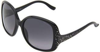 Jimmy Choo Zeta/S (Shiny Black/Gray Gradient) - Eyewear