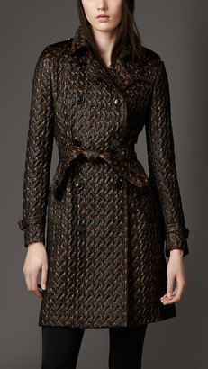 Burberry Textured Jacquard Trench Coat