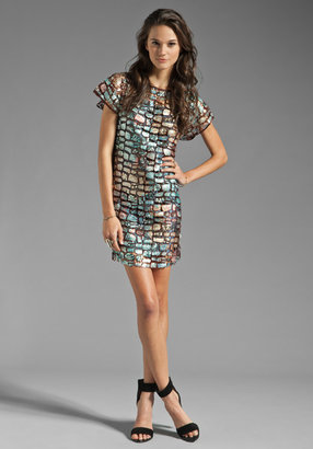 AGAIN Fitzgerald Austrian Sequin Dress