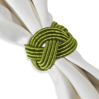 Bed Bath & Beyond Braided Cord Napkin Ring in Apple Green