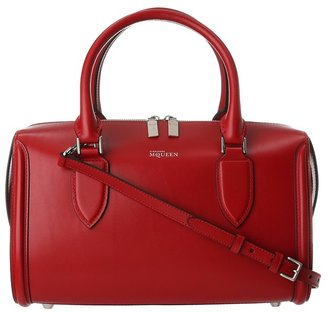 Alexander McQueen Heroine Bowling Satchel Handbag