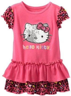 Hello Kitty Baby-girls Infant Dress With Cheetah Design and Ruffle