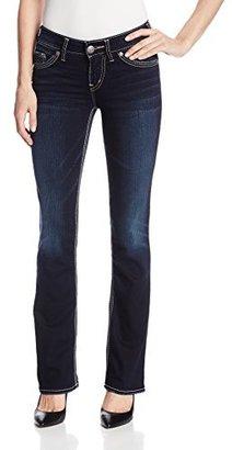Silver Jeans Women's Suki Mid-Rise Slim-Super Stretch Bootcut Jean $78 thestylecure.com
