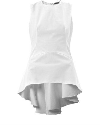 Alexander McQueen Waterfall-back cotton top