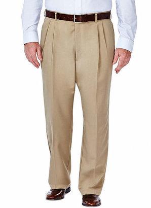 Haggar Cool 18 No-Iron Pleated Pants - Big & Tall