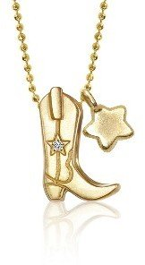 Alex Woo Boot and Star Necklace - Yellow Gold
