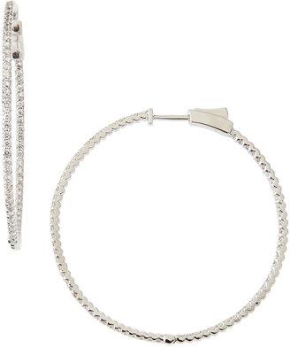 KC Designs Diamond Hoop Earrings, 1.5