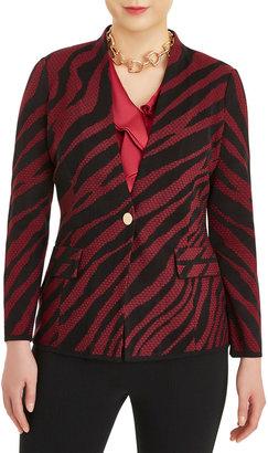 Misook Tiger Stripe Knit Blazer