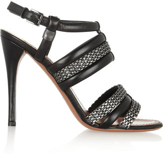 Alaia Leather and chain sandals