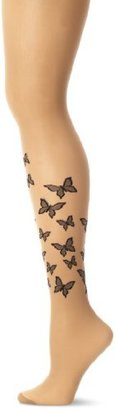 Pretty Polly Women's Flutterby Tattoo Tights