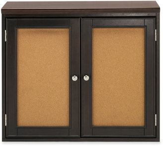 JCPenney FURNITURE PRIVATE BRAND Create Your Space 2-Door Corkboard Storage Cubby