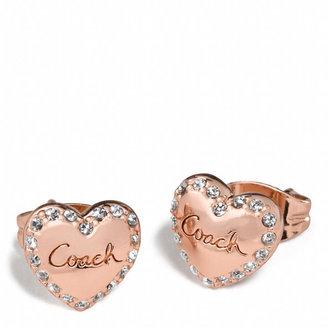 Coach Puffed Heart Earrings