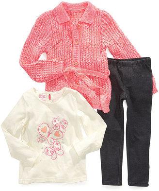 Nannette Kids Set, Little Girls 3-Piece Sweater, Shirt and Pants