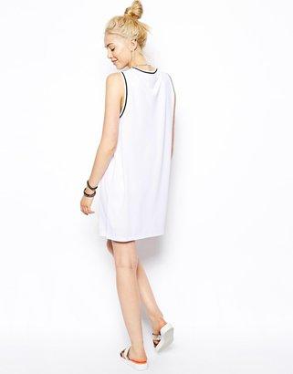 Asos Vest Dress with Brooklyn Print