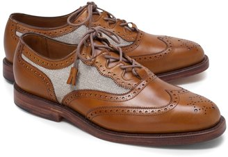 Brooks Brothers Linen and Leather Wingtips