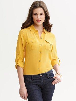 Banana Republic Silk utility shirt