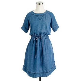 J.Crew Lightweight washed chambray dress