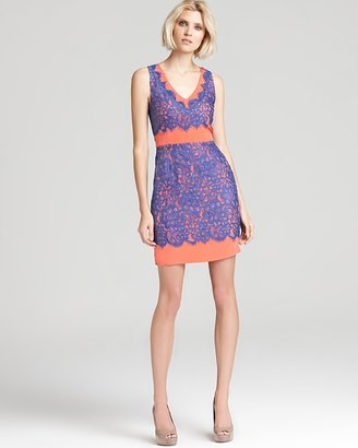 Madison Marcus V Neck Dress - Lace