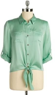 Vince Camuto Tie-Front Button-Down Shirt
