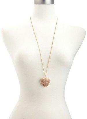 Charlotte Russe Rhinestone Heart Pendant Necklace