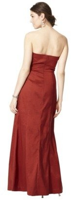 Women's Pleated Bodice Shantung Maxi Dress - Fashion Colors