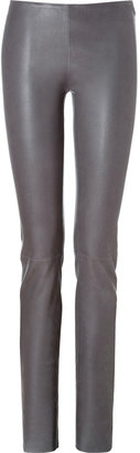 Jitrois Stretch Leather Leggings in Carbon