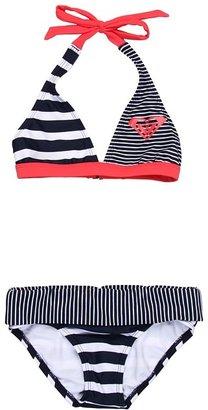 Roxy Kids Clan Shore Halter Set w/ Cups (Big Kids) (Open Ocean) - Apparel