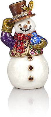 Jay Strongwater 2013 Annual Snowman Box & Ornament