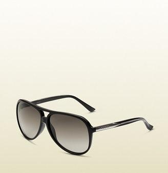 Gucci Black Aviator Sunglasses