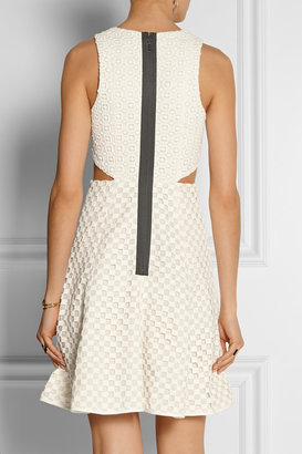 Tibi Sonoran eyelet-cotton dress