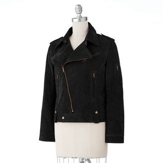 Excelled suede motorcycle jacket