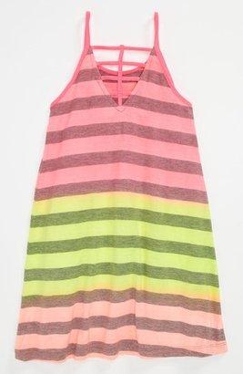 Flowers by Zoe Neon Stripe Dress (Little Girls) Multi 4