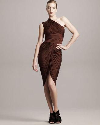 Alexander Wang Ruched One-Shoulder Dress