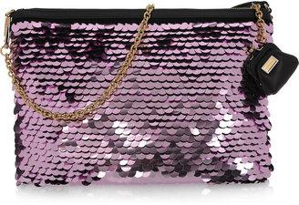 Dolce & Gabbana Metallic paillette-embellished clutch