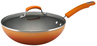 "Rachael Ray Porcelain II 11"" Non-Stick Frying Pan with Lid"