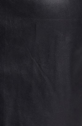 Betsey Johnson Faux Leather Sheath Dress
